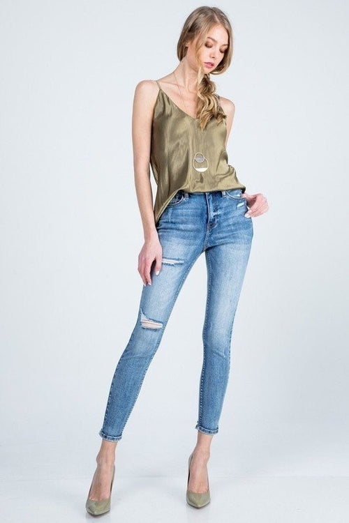 Bella V Boutique Skinny Distressed Jeans