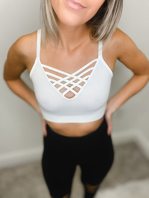 bralette with adjustable straps