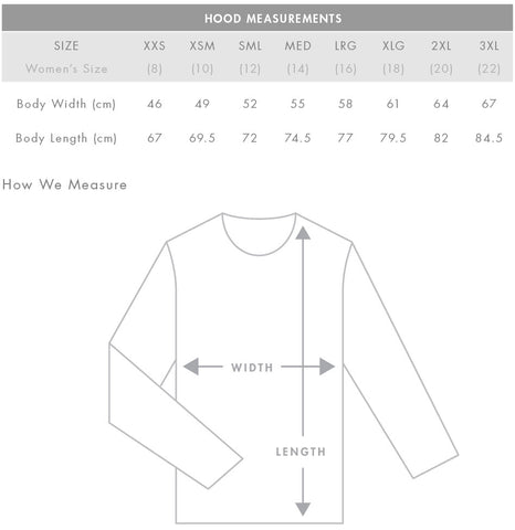Hoody fit guide