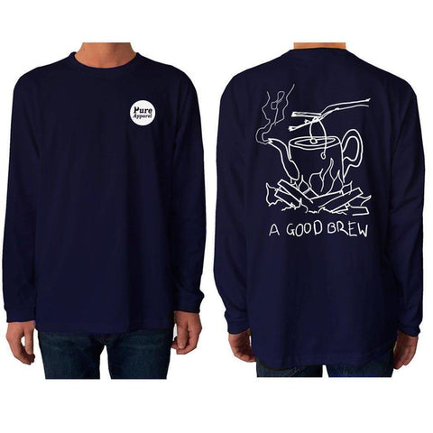 A Good Brew - Long Sleeve - pure apparel and surf