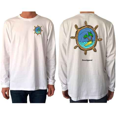 Captains Wheel (Full Colour) - Long Sleeve - pure apparel and surf