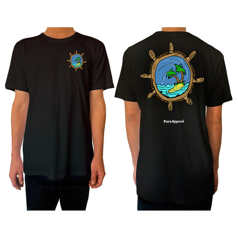 Captains Wheel (Full Colour) - Tee - pure apparel and surf