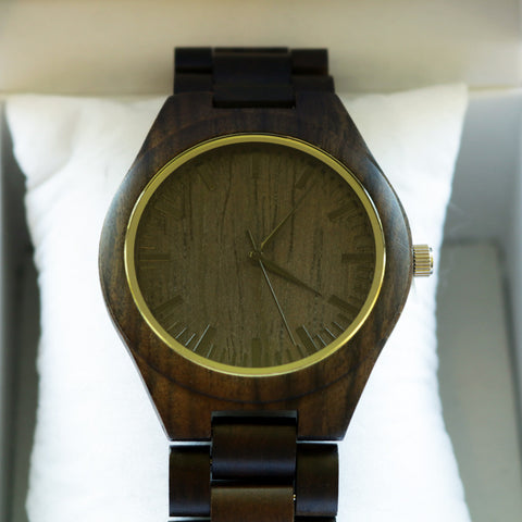 Ebony Watch, Round Face large