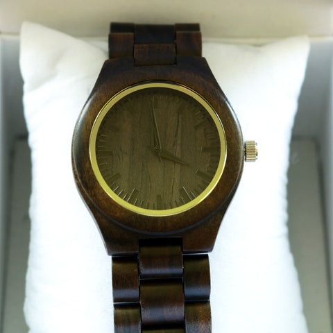 Ebony watch, Round face small