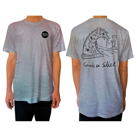 Grab A Slice - Tee - Grey