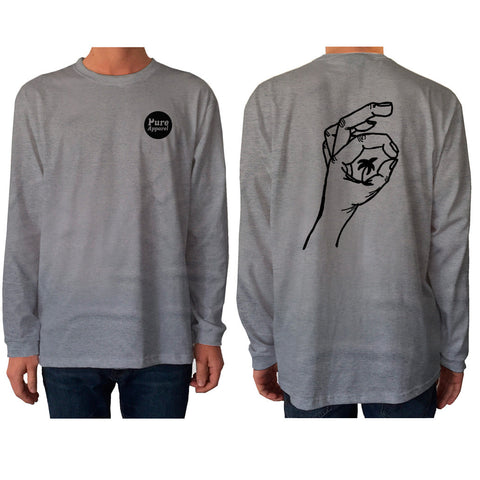 Palm of my Hand - Longsleeve - Grey