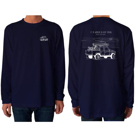 Ain't Working - Long Sleeve - pure apparel and surf