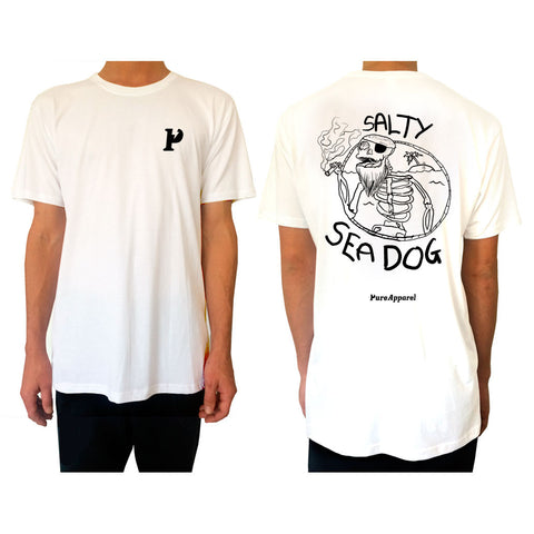 Salty Sea Dog #03 - Tee - White