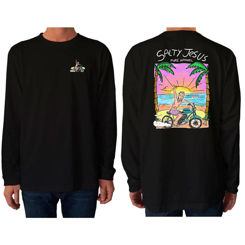 Salty Jesus #03 (Full Colour) - Long Sleeve - pure apparel and surf