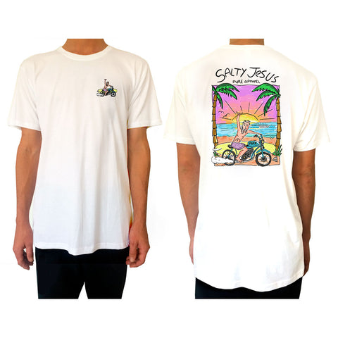 Salty Jesus #03 (Full Colour) - Tee - pure apparel and surf