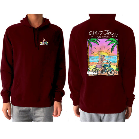 Salty Jesus #03 (Full Colour) - Hoody - pure apparel and surf