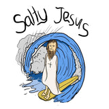 Salty Jesus (Full Colour) - Hoody - pure apparel and surf