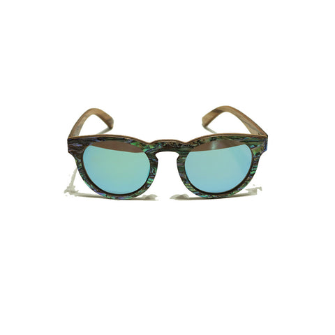 Abalone & Wood Sunnies, Rounded