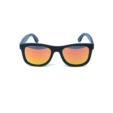 Bamboo sunnies, Black & Orange