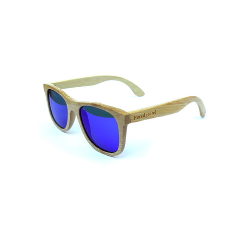 Bamboo sunnies, Blonde & Blue