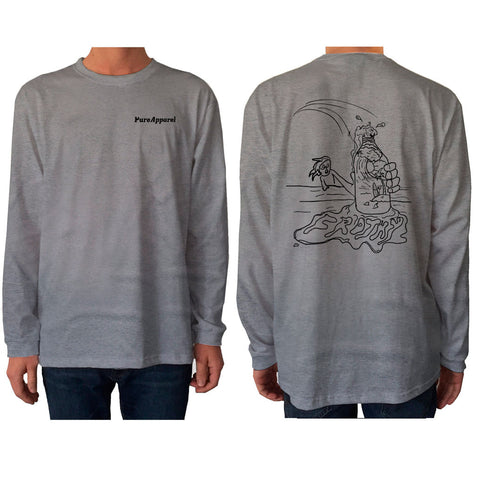 Frothy Long Sleeve Grey