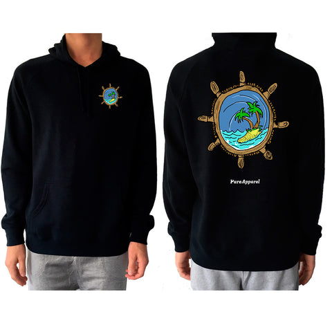 Captains Wheel (Full Colour) - Hoody - pure apparel and surf