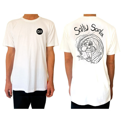 Free Salty Santa Tee T-Shirt - Pure Apparel - pure apparel and surf