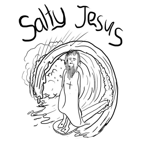 Salty Jesus - Tee - White
