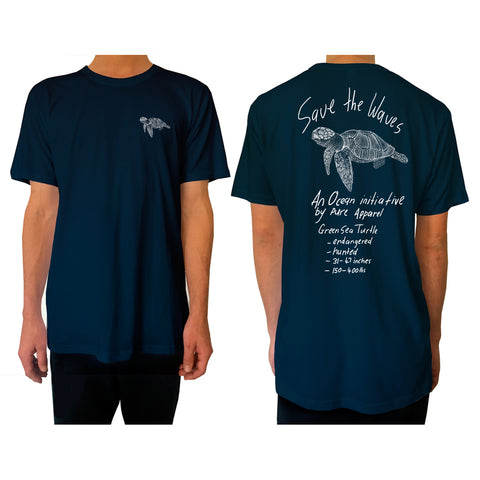 Save the Waves (Green Sea Turtle) - Tee - pure apparel and surf