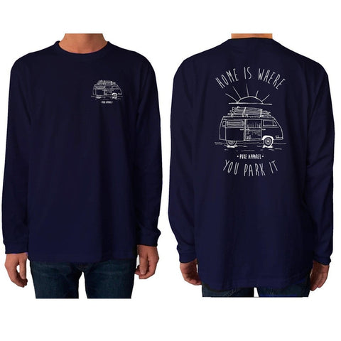 Van Life (Home Is Where You Park It) - Long Sleeve - pure apparel and surf