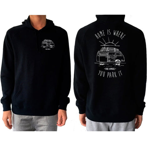 Van Life (Home Is Where You Park It) - Hoody - pure apparel and surf