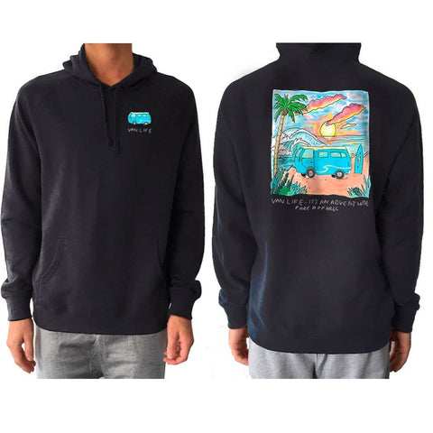 Van Life Adventure - Hoody - pure apparel and surf