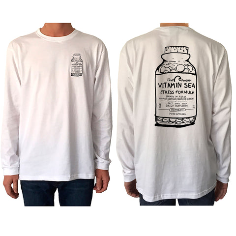 Vitamin Sea White Longsleeve - pure apparel and surf