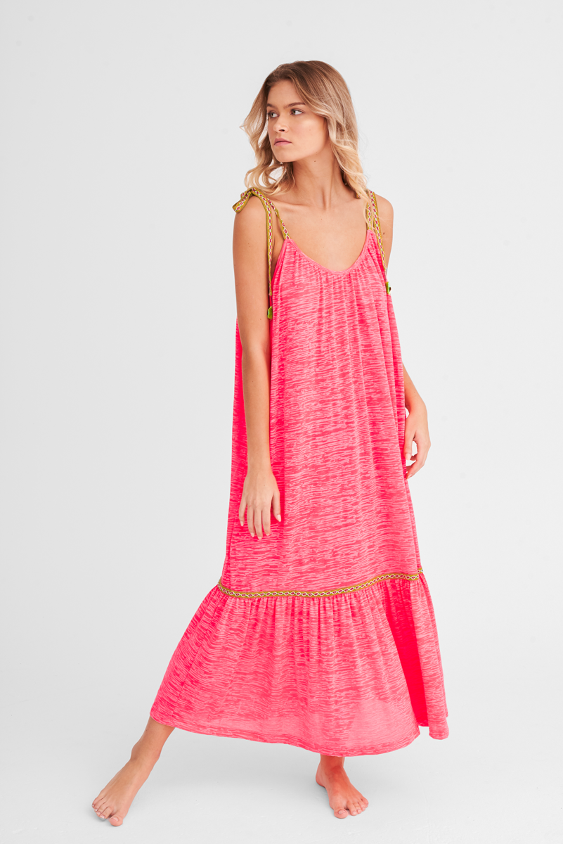 e17ce5889461 Tie Up Dress in Hot Pink