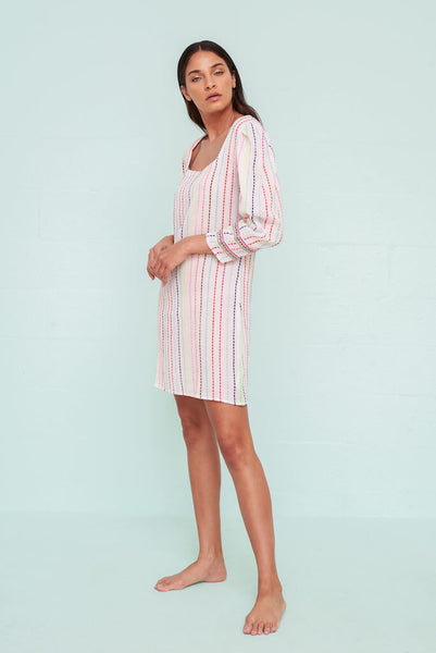 80s Puff Sleeve Mini Dress