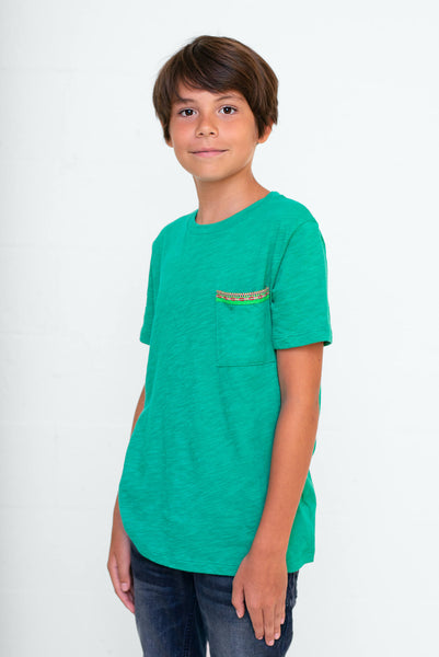 Kids Pima Pocket T-Shirt