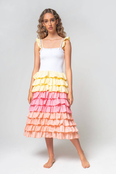 Ruffle Smocking Dress