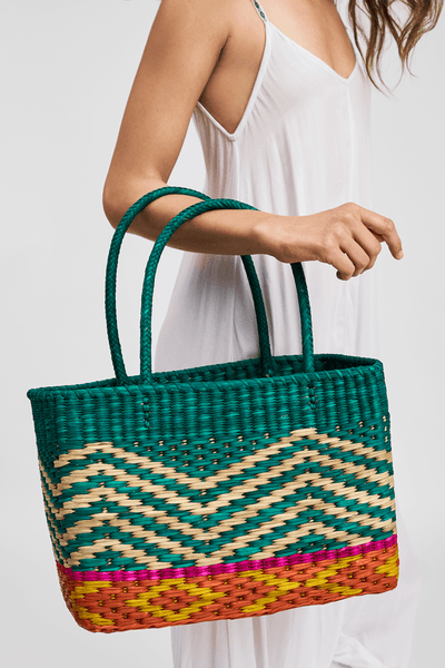 Inca Straw Cubie Bag