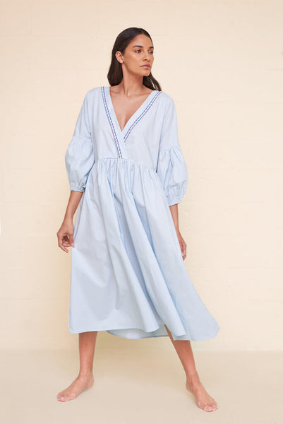 Scrunch Sleeve Maxi Dress
