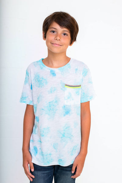 Kids Tie Dye Pocket T-Shirt