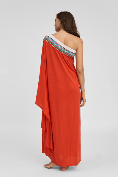 Pima One Shoulder Dress