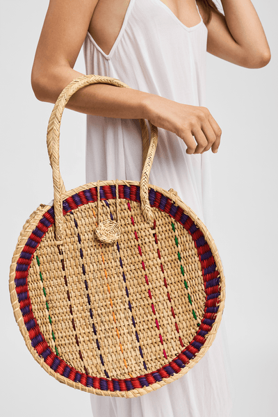 Straw Disco Bag