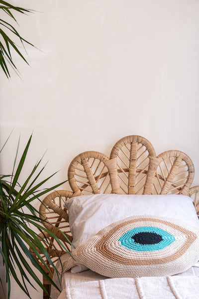 Evil Eye Crochet Cushion