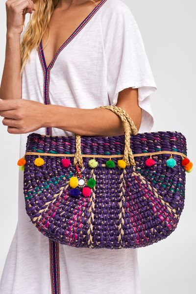 Half Moon Beach Bag Purple