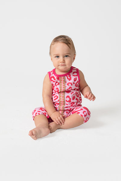 Pima Cheetah Sleeveless Bodysuit