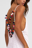 Pom Pom Necklace Dress