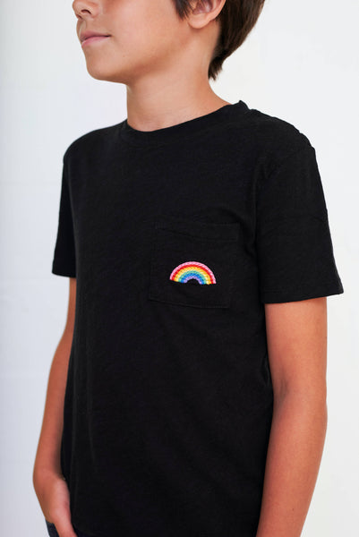Kids Embroidered Rainbow T-Shirt