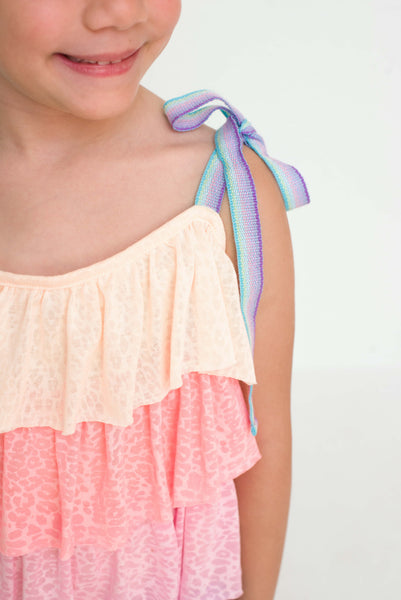 Kid's Rainbow Tiered Dress