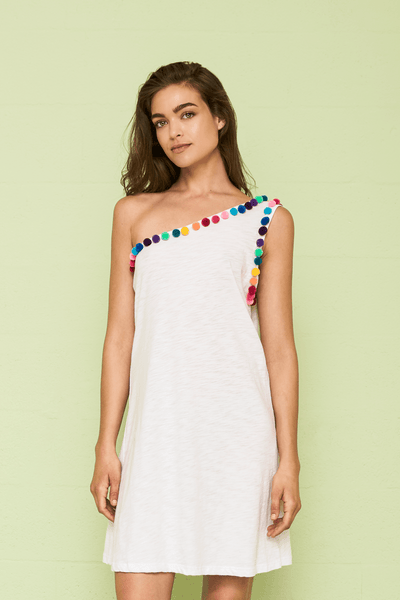 Pom Pom One Shoulder