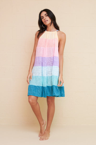 Popsicle Halter Mini Dress