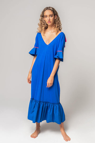 V-Back Tassel Dress