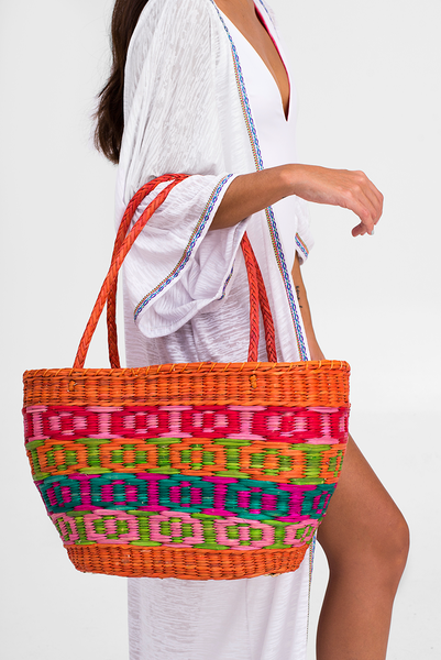 Inca Straw Basket Bag