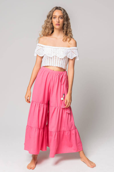 Tie Side Wide Leg Pant