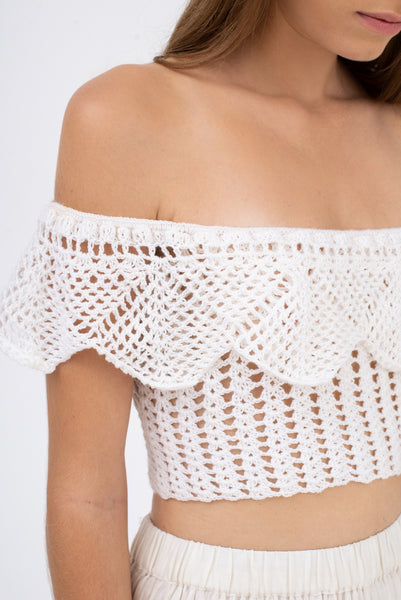Off The Shoulder Crochet Top