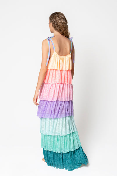 Rainbow Tiered Dress